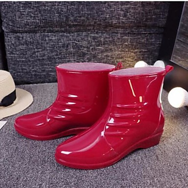 Women's Shoes PVC Summer Comfort Boots For Casual Black Red