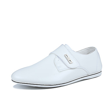 Men's Shoes TPU Leather Summer Fall Comfort Light Soles Sneakers for Casual Office & Career White