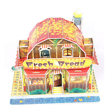 3D Puzzle Jigsaw Puzzle Paper Model Model Building Kit House DIY High Quality Paper Classic Boys' Unisex Gift
