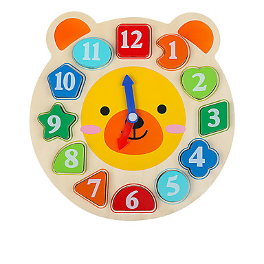 Jogos de Madeira Brinquedo de madeira do relógio Brinquedos Matemáticos Relógio Educação Crianças Brinquedos Dom