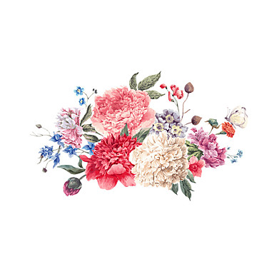 Dekoratív falmatricák - Repülőgép matricák Virágok / Virágos / Botanikus Nappali szoba / Hálószoba / Fürdőszoba