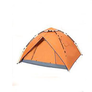 3-4 personer Telt Dobbelt camping Tent Automatisk Telt Hold Varm Støvtett til Camping & Fjellvandring Andre Material CM