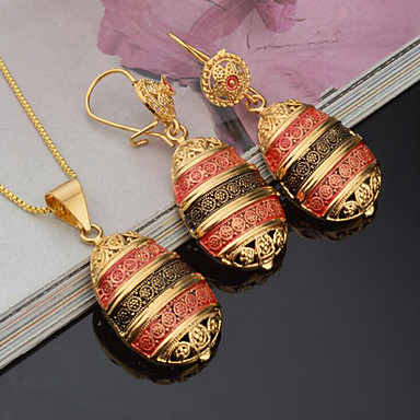 Women's Jewelry Set - Gold Plated Fashion, Euramerican Include Bridal Jewelry Sets Yellow For Party Event / Party Dailywear