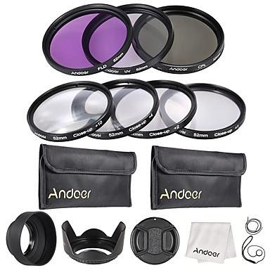 Andoer 52mm UV  CPL  FLD  Close-up(1 2 4 10)
