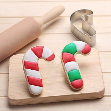 karácsonyi édességet cukornád sütemények vágó rozsdamentes acél sütemény sütemény penész sütés eszközök