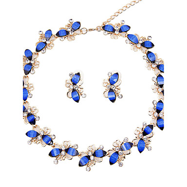 Women's Rhinestone Bohemian Jewelry Set - Classic Bohemian Euramerican Fashion Taper Shape Dark Blue Jewelry Set Bridal Jewelry Sets