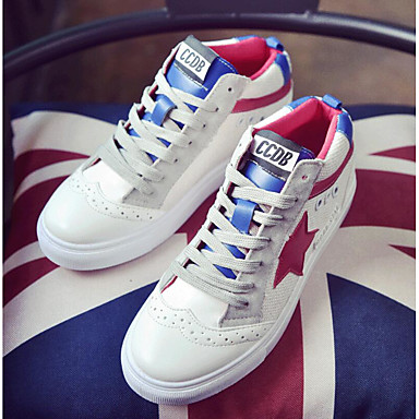 Women's Shoes PU Summer Comfort Sneakers For Casual White