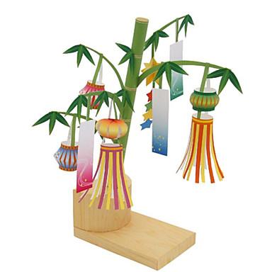 voordelige 3D-puzzels-3D-puzzels Papierkunst Lantaarn Bamboe DHZ Inrichting artikelen Bamboe Klassiek Unisex Speeltjes Geschenk