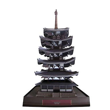 Quebra-Cabeças 3D Maquetes de Papel Brinquedos de Montar Torre Construções Famosas Faça Você Mesmo Cartão de Papel Duro Clássico Crianças