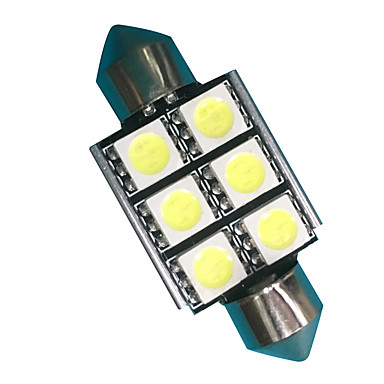 2pcs Festoon Car Light Bulbs 3W SMD 5050 300lm LED Accessories