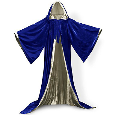 Wizard Coat Cosplay Costume Cloak Witch Broom Halloween Props Party Costume Masquerade Unisex Christmas Halloween Carnival New Year