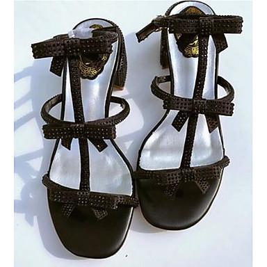 Naiset Kengät Nahka Kevät Comfort Sandaalit Käyttötarkoitus Kausaliteetti Valkoinen Musta Vaaleanruskea