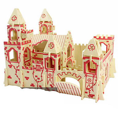 3D Puzzles Metal Puzzles Wood Model Model Building Kits Toys Architecture DIY Natural Wood Not Specified Pieces