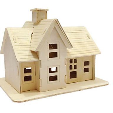 Quebra-Cabeças 3D Quebra-Cabeça Brinquedos de Montar Construções Famosas Arquitetura 3D Faça Você Mesmo Madeira Natural Clássico Crianças