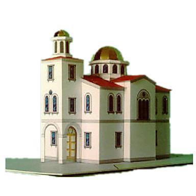 Quebra-Cabeças 3D Maquetes de Papel Artesanato de Papel Brinquedos de Montar Construções Famosas Igreja Arquitetura Faça Você Mesmo