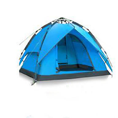 3-4 personer Telt camping Tent Automatisk Telt Regn-sikker til Camping & Fjellvandring Andre Material CM