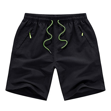 Men's Running Shorts Quick Dry Casual/Daily Shorts for Running/Jogging Exercise & Fitness Polyester Loose Black Gray L XL XXL XXXL