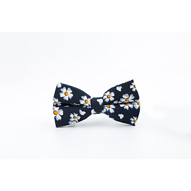 Men's Cotton Bow Tie,Casual All Seasons Navy Blue