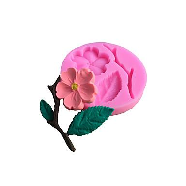 kakku Muotit Pyöreä Flower 3D Liquid for Cookie for Cake For Keittoastiat Silikoni Tarttumaton Leivonta Tool