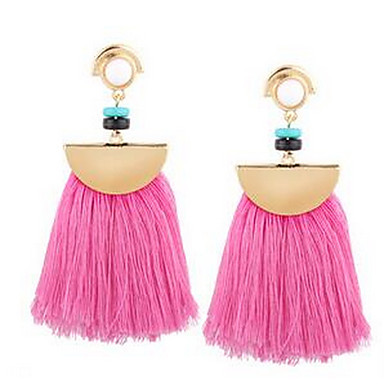 Women's Drop Earrings Jewelry Tassel Resin EVA Resin Alloy Jewelry For Wedding Party Thank You Daily Stage Dress