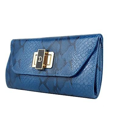 Mulheres Bolsas Poliéster / PU Bolsa de Mão Metálico Azul