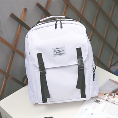 Women's Bags Canvas Backpack for Casual All Seasons White Black Blushing Pink Beige