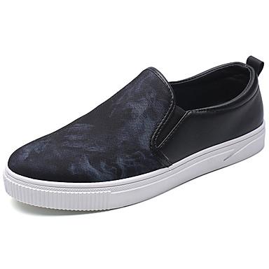 Homens sapatos Couro Ecológico Primavera / Verão Conforto Mocassins e Slip-Ons Vermelho / Azul