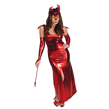 Wizard/Witch Angel/Devil Cosplay One-Piece/Dress Cosplay Costumes Masquerade Female Halloween Carnival Festival/Holiday Halloween Costumes