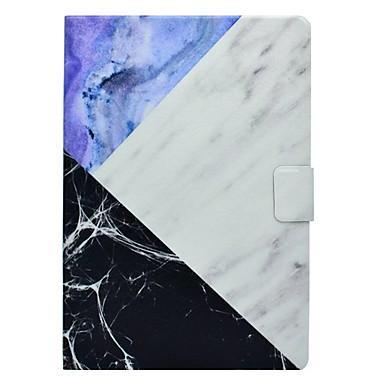 Capinha Para Apple iPad Mini 3/2/1 iPad 4/3/2 iPad Air 2 iPad Air Porta-Cartão Com Suporte Estampada Capa Proteção Completa Mármore Rígida