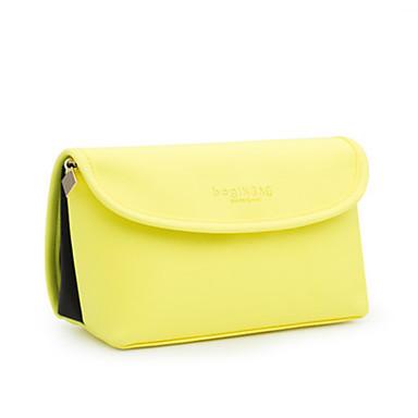 Women Bags All Seasons PU Cosmetic Bag for Casual Yellow