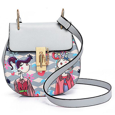 Women Bags All Seasons PU Shoulder Bag for Casual Outdoor Black Blushing Pink Gray