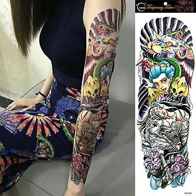 Tatuointitarrat Muut Non Toxic Suuri koko Waterproof Naisten Miesten Teini Flash Tattoo väliaikaiset tatuoinnit