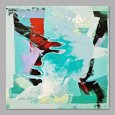 Pintados à mão Abstrato Vertical, Artistíco Abstracto Tela de pintura Pintura a Óleo Decoração para casa 1 Painel