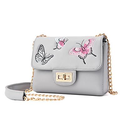 Women Bags All Seasons PU Shoulder Bag for Casual Blue Black Blushing Pink Gray