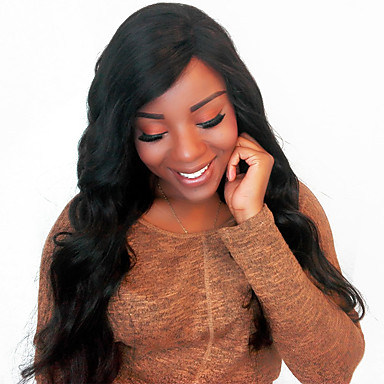 Remy Human Hair Full Lace Wig 360 Frontal 100% Hand Tied African American Wig Natural Hairline Short Medium Long 180% Density Women's