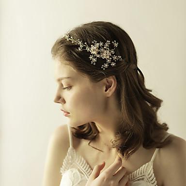 Strass Tiaras Headbands Flores 1 Casamento Ocasião Especial Aniversário Festa / Noite Capacete