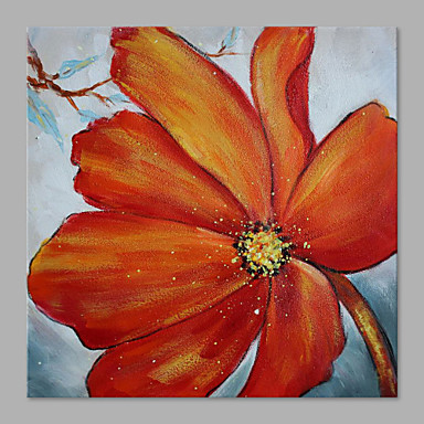 Hand-Painted Floral/Botanical Horizontal, Artistic Canvas Oil Painting Home Decoration One Panel