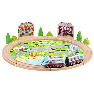Carros de Brinquedo / Blocos de Construir / Carrinhos com Pista Cauda / Cavalo Elétrico Trem / Conjuntos de Trens & Trilhos Para Meninos