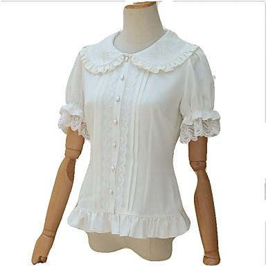 91e7a18b64 Alkalmi Lolita ruha Vintage-inspirált Női / Lány Blúz / Ing Cosplay Fehér  Rövid ujjú