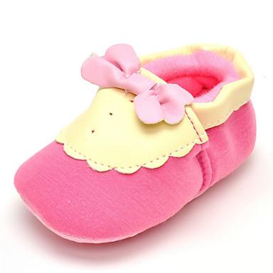 Para Meninas sapatos Tecido Primavera Outono Conforto Rasos Laço para Casamento Casual Ao ar livre Festas & Noite Social Rosa claro