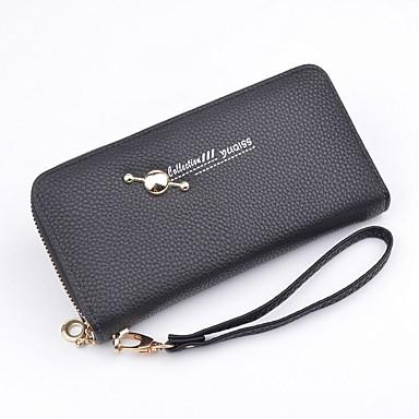 Women's Bags Polyester / PU(Polyurethane) Checkbook Wallet Rivet Purple / Aquamarine / Red