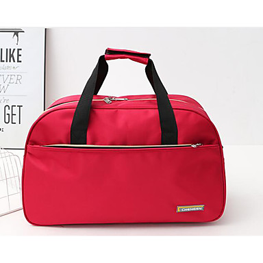 Unisex Travel Bag Oxford Cloth Polyester All Seasons Casual Outdoor Rectangle Zipper Black Red Fuchsia