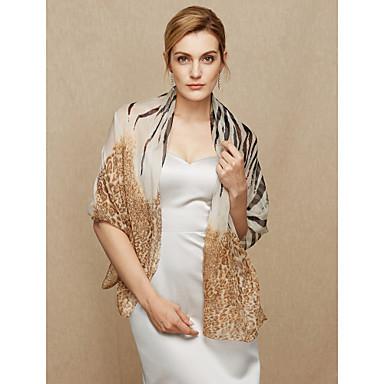 Chiffon Bryllup / Fest / aften Sjal til kvinner With Leopard Sjale