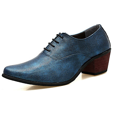 Men's Novelty Shoes PU(Polyurethane) Spring / Fall Comfort Oxfords Silver / Red / Blue