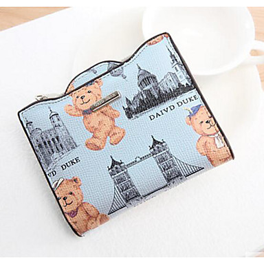 Women Bags All Seasons PU Coin Purse for Casual Outdoor Blue Green