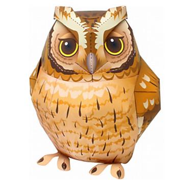Quebra-Cabeças 3D Quebra-Cabeça Artesanato de Papel Brinquedos de Montar Pássaro Pato Eagle Coruja 3D Animais Faça Você Mesmo Clássico