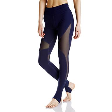 Mulheres Calças de Corrida Fitness, Corrida e Yoga Pavio Humido Meia-calça Calças Ioga Exercício e Atividade Física Corrida Grade Terylene