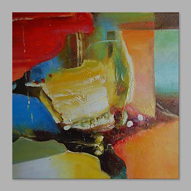Pintura a Óleo Pintados à mão - Abstrato Artistíco Abstracto Tela de pintura