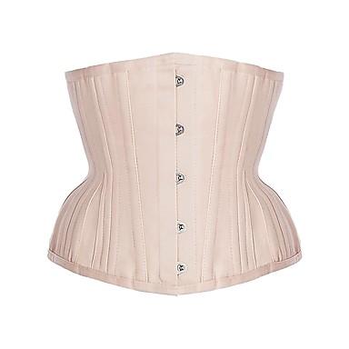Women's Underbust Corset Plus Size Nightwear,Retro Sexy Push-Up Sports Solid-Medium