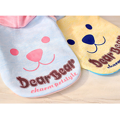Dog Hoodie Dog Clothes Casual/Daily Cartoon Orange Pink Light Blue Costume For Pets